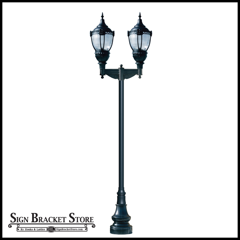 Dual lamped street lights turn any city street into an upscale boulevard.