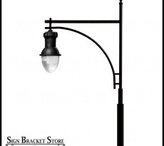 This particular street light  is 26 feet tall, allowing traffic to pass safely underneath.