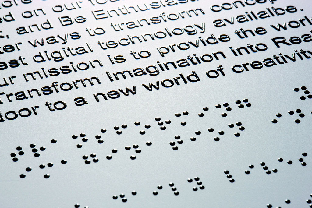 Braille Sign - Photo Credit: Roland DG