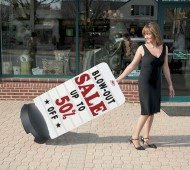 Choosing an easily portable sign means that all of your employees can lend a hand bringing things in for the night.