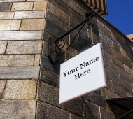 Castle Sign Bracket - Your Name Here Sign