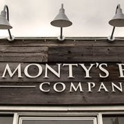 Monty's Beef Company Gooseneck Sign Lights