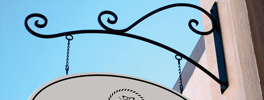 Milano Arch Outdoor Sign Bracket