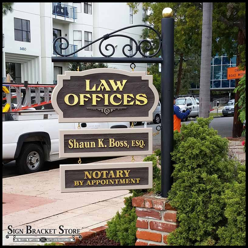 Standing Out From The Crowd With Pole Brackets And Sign Posts Sign Bracket Store Blog