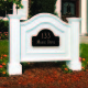It's easy to play up the look of this stately colonial with the simple addition of this white address sign.