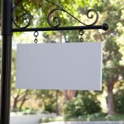 Single Post and Panel Sign
